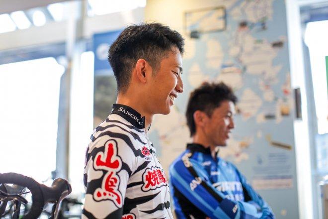 Nishiyama (in front)