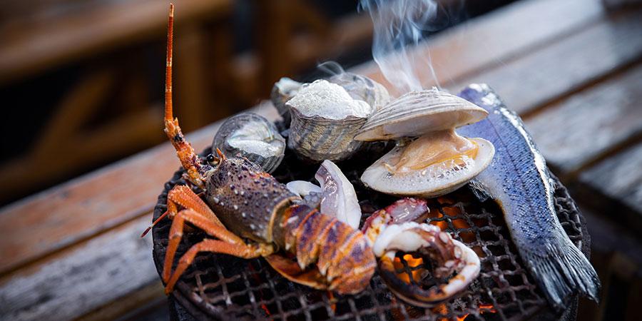 【Point 6.8km】Noshima Suigun - Seafood Barbecue
